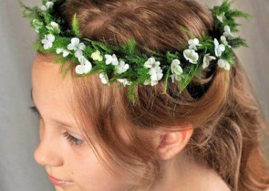 طوق ورد Flower crown-صور ورد
