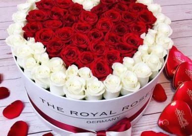صور ورد قلوب رومانسية - صور ورد