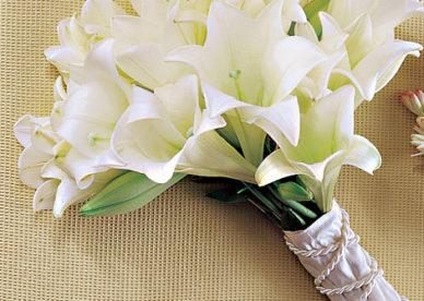 أجمل صور مسكات عروس راقية باللون الأبيض- صور ورد