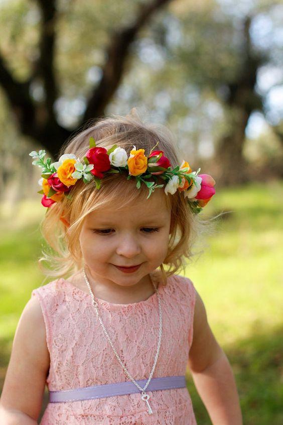 صور اطواق بنات مزينة بالورد الزهور- صور ورد
