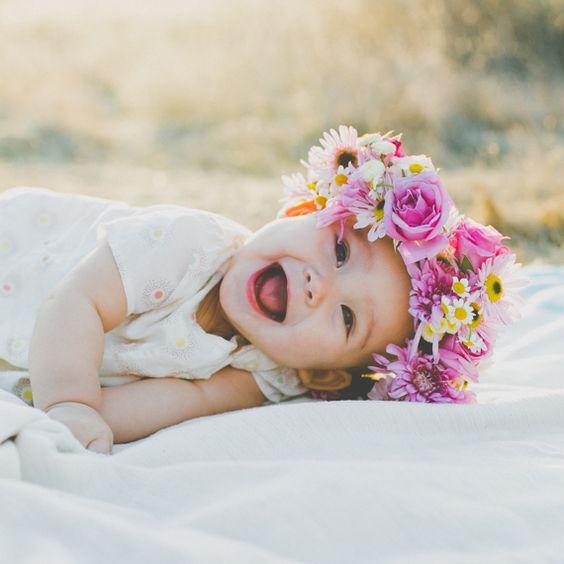 صور طوق ورد للأطفال-صور ورد